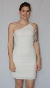 Cream clubbing dress