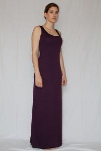 Purple long summer dress