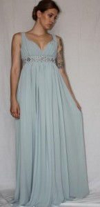 Grecian style evening dress